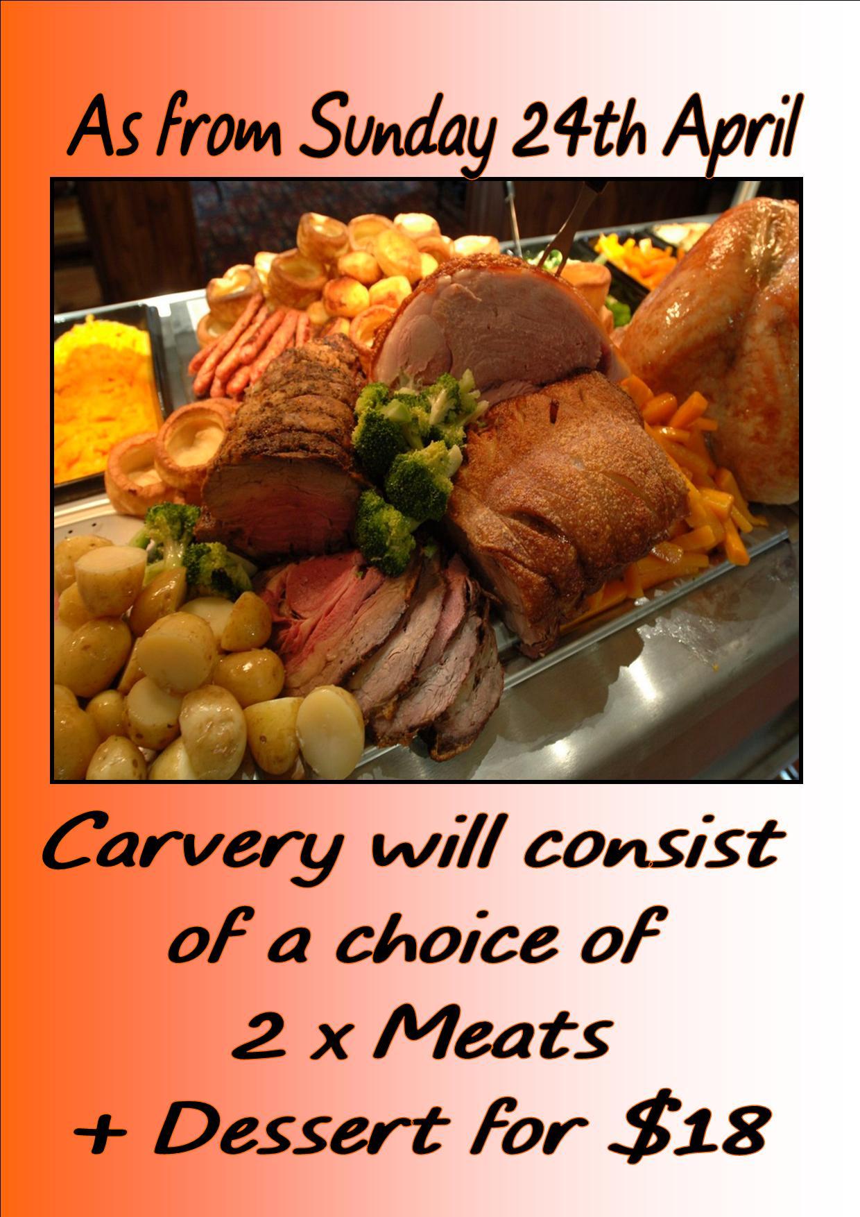 Carvery Sunday $18-24th