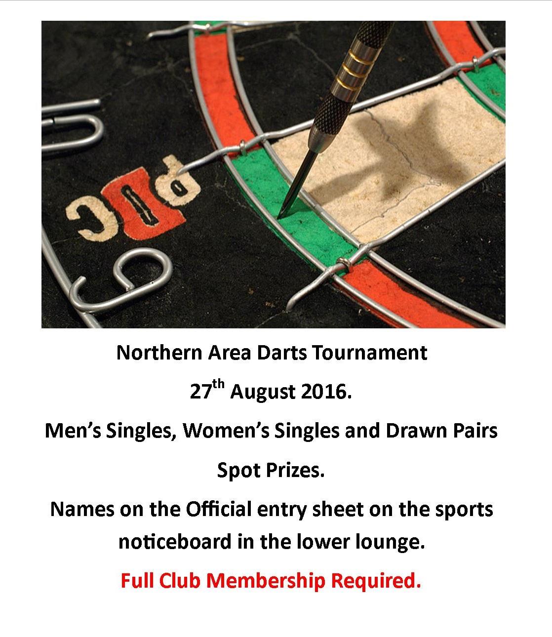 Darts comp 2016
