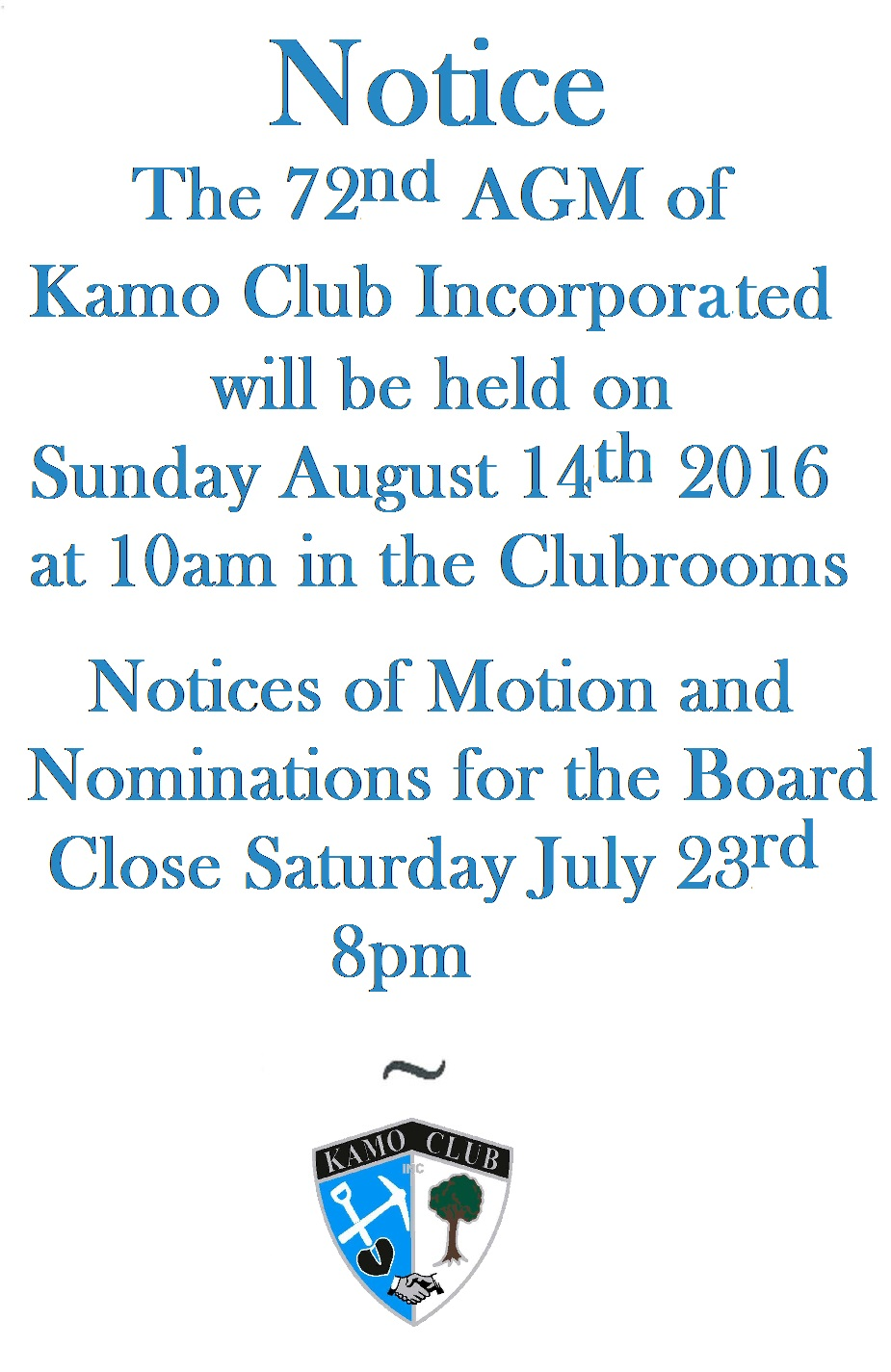 Kamo club AGM Notice new V2016