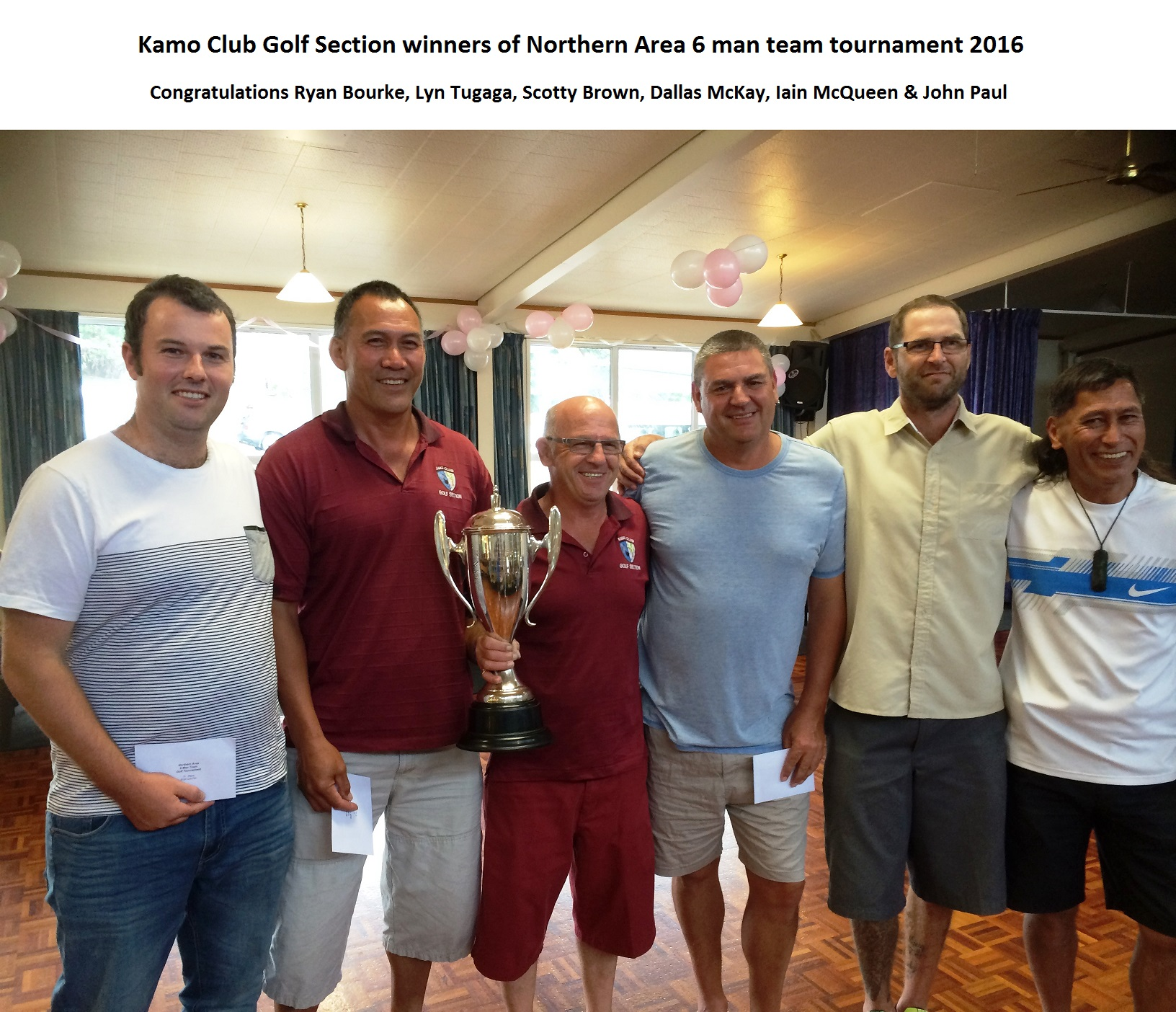 Newsletter and Website photo Golfers