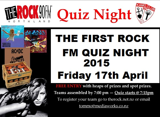 Rock Quiz Poster Notice of first 2015